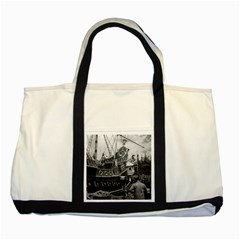 Vintage USA California Disneyland sailing boat 1970 Two Toned Tote Bag