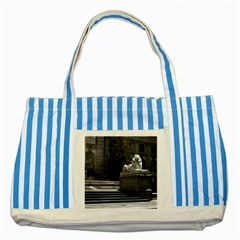 Vintage USA New York city public library 1970 Blue Striped Tote Bag
