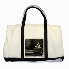 Vintage USA New York city public library 1970 Two Toned Tote Bag