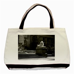 Vintage USA New York city public library 1970 Twin-sided Black Tote Bag