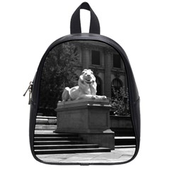 Vintage Usa New York City Public Library 1970 Small School Backpack