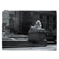 Vintage USA New York city public library 1970 Cosmetic Bag (XXL)