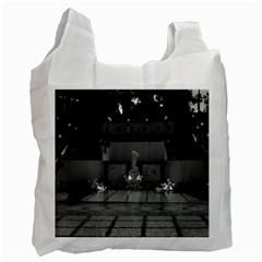 Vintage USA California San Simeon Neptune pool 1970 Single-sided Reusable Shopping Bag