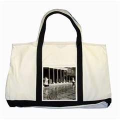 Vintage Usa California San Simeon Neptune Pool 1970 Two Toned Tote Bag