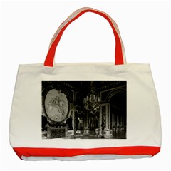 Vintage France palace of versailles The hall of war Red Tote Bag