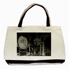 Vintage France palace of versailles The hall of war Twin-sided Black Tote Bag