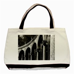 Vintage France Palace Of Versailles Colonnade Grove Black Tote Bag