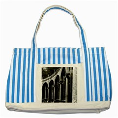 Vintage France palace of Versailles Colonnade Grove Blue Striped Tote Bag