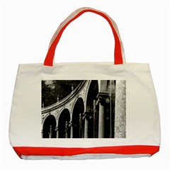 Vintage France palace of Versailles Colonnade Grove Red Tote Bag