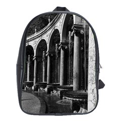 Vintage France Palace Of Versailles Colonnade Grove Large School Backpack