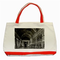 Vintage France palace of versailles mirrors galery 1970 Red Tote Bag