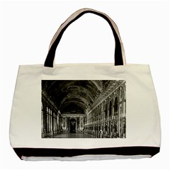 Vintage France palace of versailles mirrors galery 1970 Twin-sided Black Tote Bag