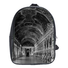Vintage France palace of versailles mirrors galery 1970 Large School Backpack