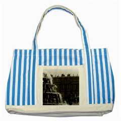 Vintage France Palace Of Versailles Pyramid Fountain Blue Striped Tote Bag
