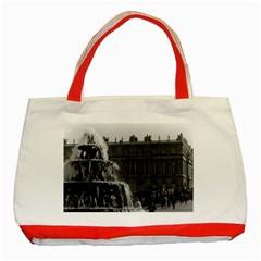 Vintage France Palace Of Versailles Pyramid Fountain Red Tote Bag
