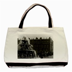 Vintage France Palace Of Versailles Pyramid Fountain Twin Sided Black Tote Bag