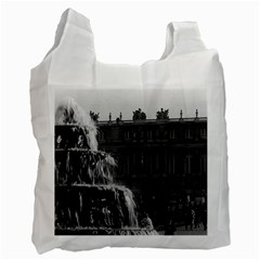 Vintage France Palace Of Versailles Pyramid Fountain Single Sided Reusable Shopping Bag