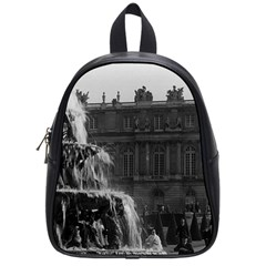 Vintage France palace of Versailles Pyramid fountain Small School Backpack