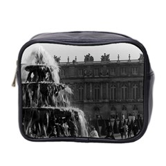 Vintage France Palace Of Versailles Pyramid Fountain Twin Sided Cosmetic Case