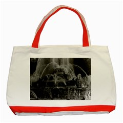 Vintage France Palace Of Versailles Latona Fountain Red Tote Bag