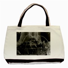 Vintage France palace of Versailles Latona Fountain Twin-sided Black Tote Bag