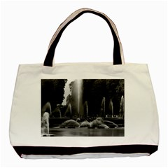 Vintage France palace of Versailles neptune fountains Black Tote Bag