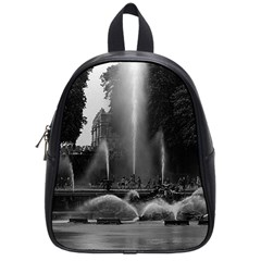 Vintage France palace of Versailles neptune fountains Small School Backpack
