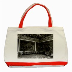 Vintage France Palace Of Versailles Apollo Chambre 1970 Red Tote Bag