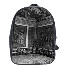 Vintage France palace of Versailles Apollo chambre 1970 Large School Backpack