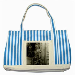 Vintage France Palace of Versailles astronomical clock Blue Striped Tote Bag