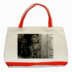 Vintage France Palace of Versailles astronomical clock Red Tote Bag