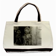 Vintage France Palace of Versailles astronomical clock Twin-sided Black Tote Bag