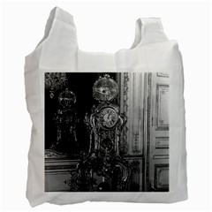 Vintage France Palace of Versailles astronomical clock Single-sided Reusable Shopping Bag