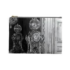 Vintage France Palace of Versailles astronomical clock Large Makeup Purse