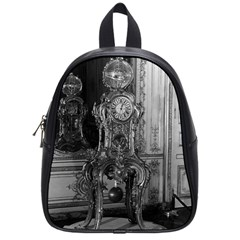 Vintage France Palace Of Versailles Astronomical Clock Small School Backpack