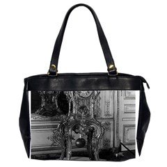 Vintage France Palace Of Versailles Astronomical Clock Twin Sided Oversized Handbag