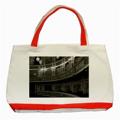 Vintage France palace Versailles opera house Red Tote Bag