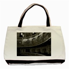 Vintage France Palace Versailles Opera House Twin Sided Black Tote Bag