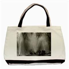 Vintage France Palace Of Versailles Apollo Fountain Black Tote Bag