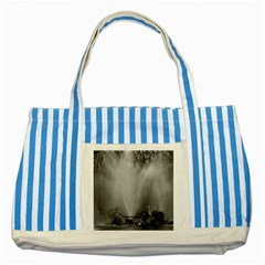 Vintage France palace of Versailles Apollo fountain Blue Striped Tote Bag