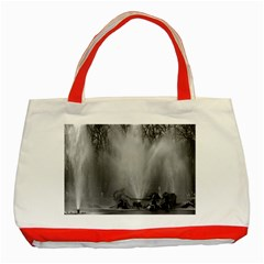 Vintage France palace of Versailles Apollo fountain Red Tote Bag