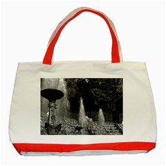 Vintage France palace of versailles The Salle de Bal Red Tote Bag