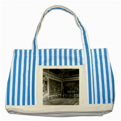 Vintage France palace of Versailles stade dining room Blue Striped Tote Bag
