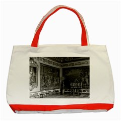 Vintage France Palace Of Versailles Stade Dining Room Red Tote Bag