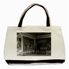 Vintage France palace of Versailles stade dining room Twin-sided Black Tote Bag