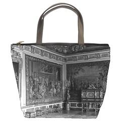 Vintage France palace of Versailles stade dining room Bucket Handbag