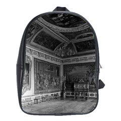 Vintage France palace of Versailles stade dining room Large School Backpack
