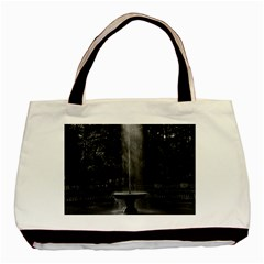 Vintage France Palace Of Versailles The Grove Of Domes Twin Sided Black Tote Bag