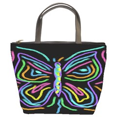 Abstract Butterfly Small Handbag Bucket Handbag