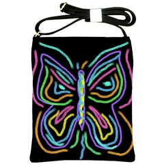 Abstract Butterfly Shoulder Bag Cross Shoulder Sling Bag